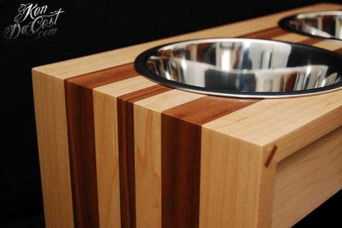 Fanciful Wooden Pooch Feeders : Ken Decost Wooden Bowl Designs