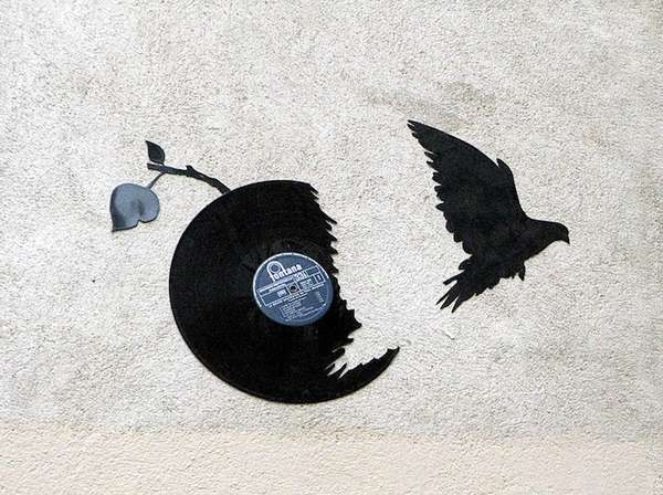 Avian Record Graffiti Art