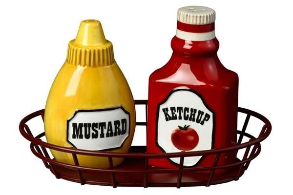 Ketchup and Mustard Salt and Pepper