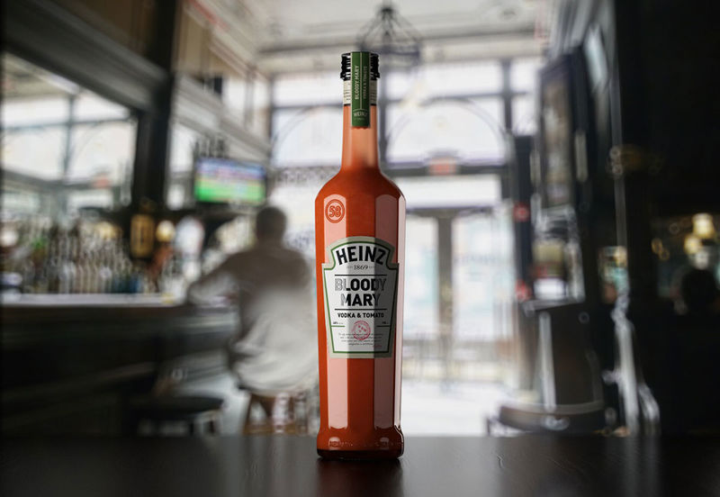 Boozy Condiment Cocktails   Ketchup Bottle