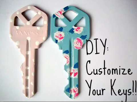 diy custom keys key design