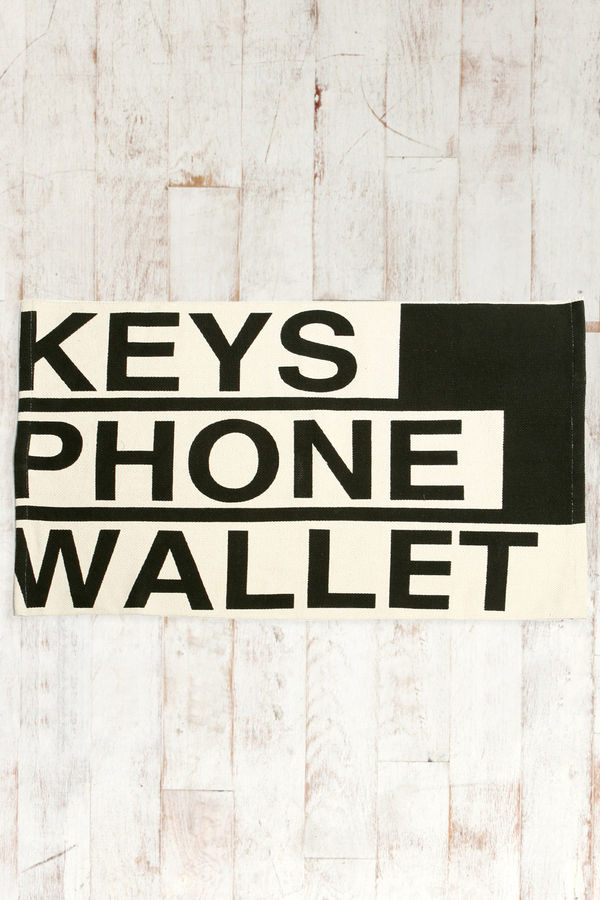Reminder Welcome Mats Keys Phone Wallet