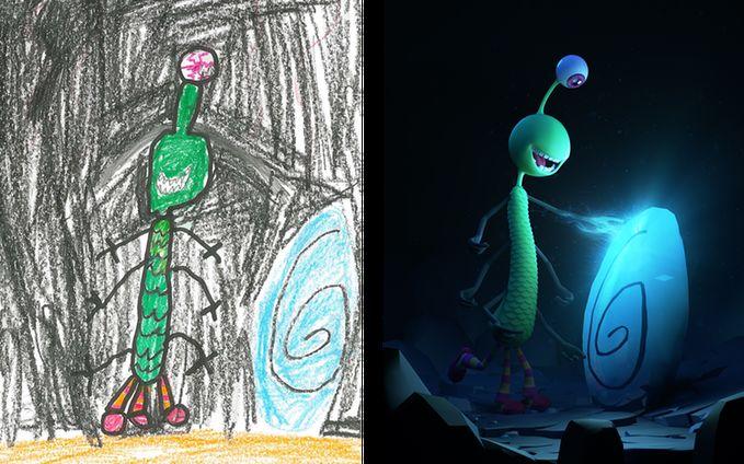 Reinterpreted Kids' Drawings