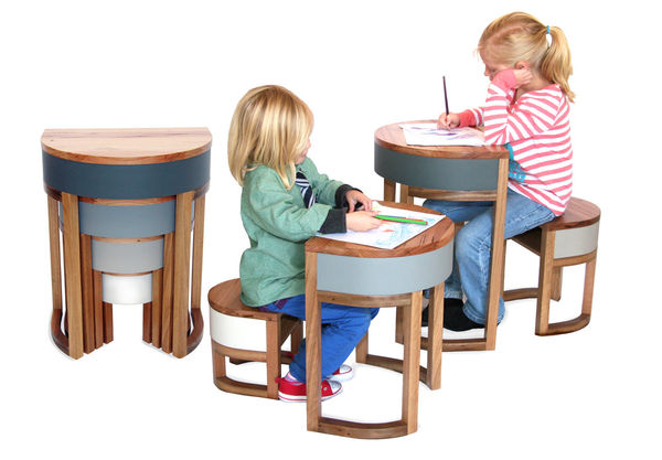 Space-Saving Kiddie Tables