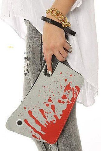 Macabre Blood-Splattered Clutches