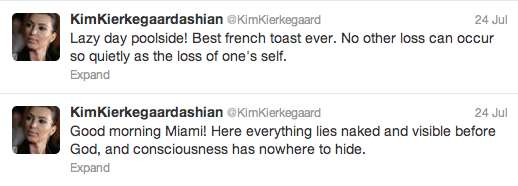 KimKierkegaardashian twitter account
