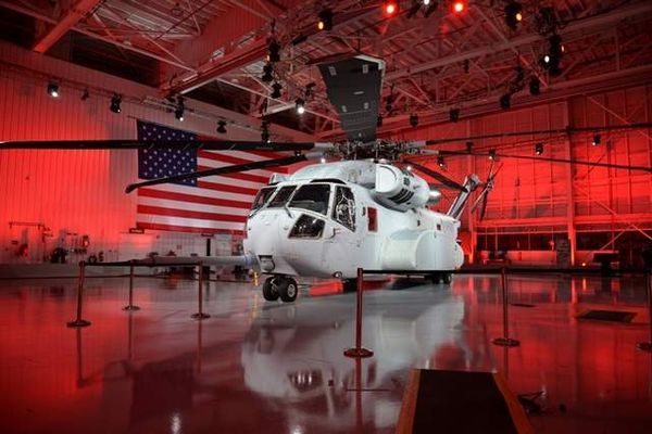 Hulking Military Helicopters