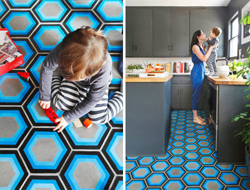 Wildly Vibrant Floors