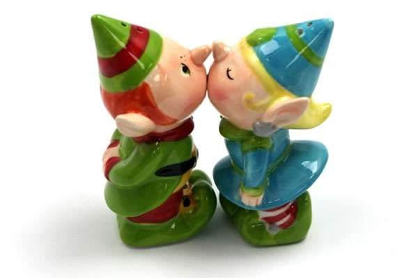 Kissing Elves Salt & Pepper Shakers