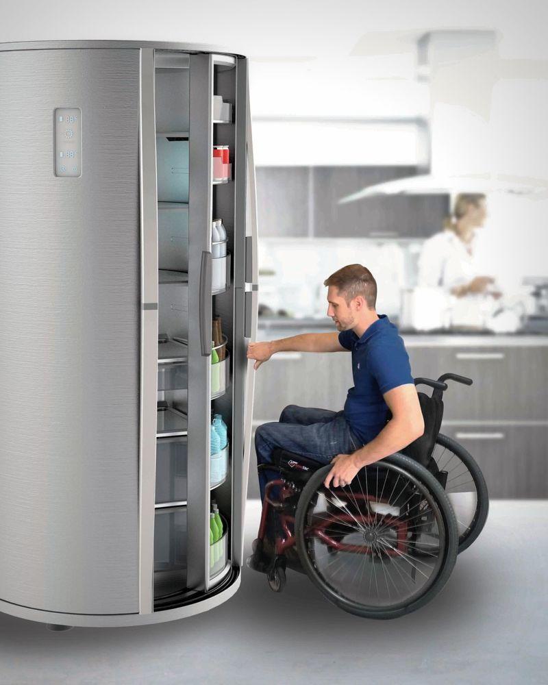Accessible Kitchen Fridges