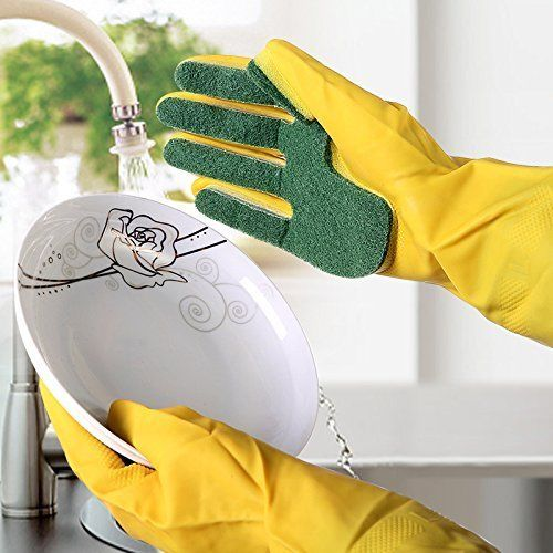 Scrubber-Embedded Cleaning Gloves