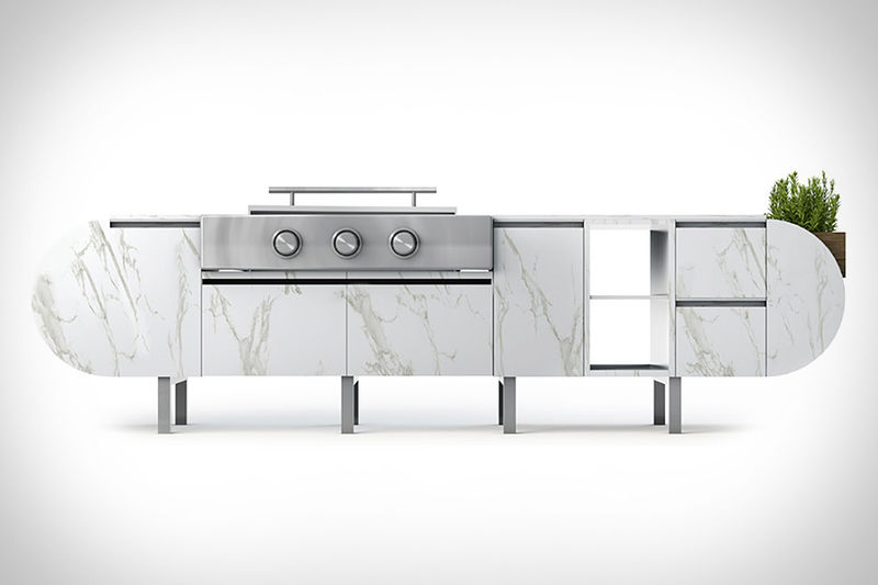 Contemporary Outdoor Grill Stations