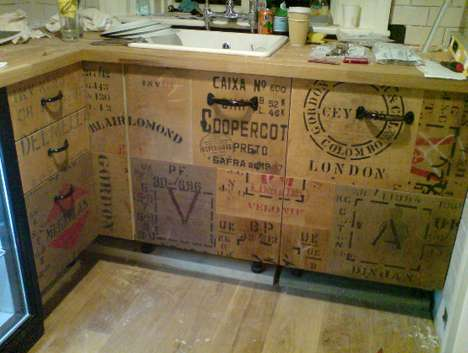 Crate Kitchens: Creative Cabinetry Using Colorful Crates