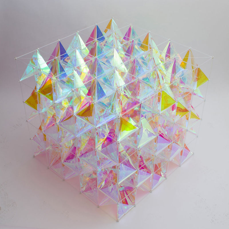 Colorful Cube Kites