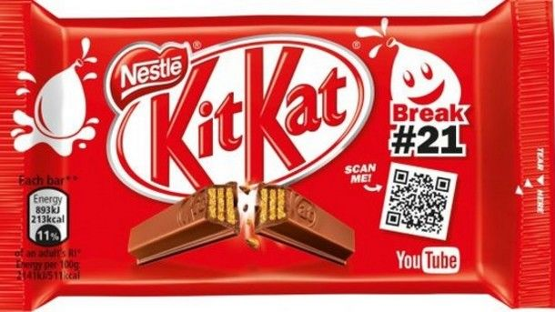 Video-Linked Chocolate Bars