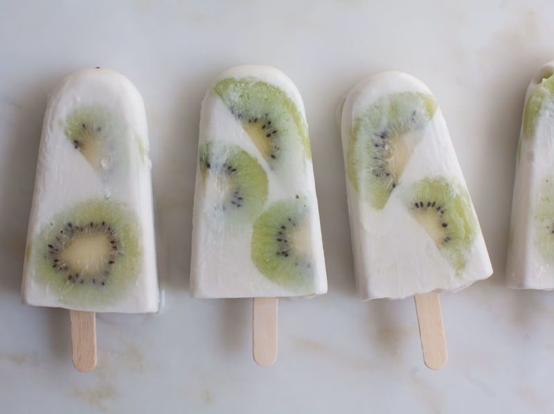 Coconut Kiwi Popsicles