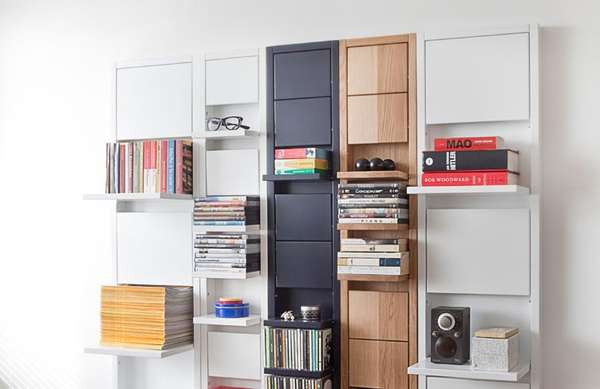 Compact Drop-Down Shelving