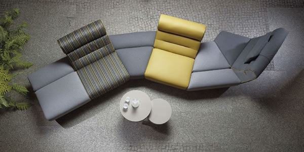 Slithering Modular Sofas