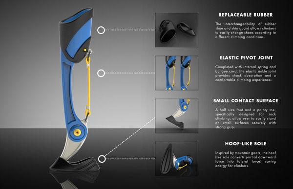 Rock Climber Prosthetic Legs
