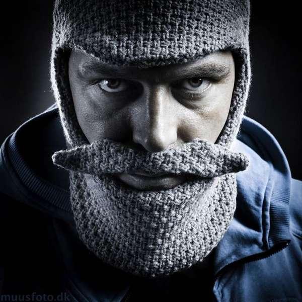 Aged Bearded Knit Hats