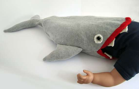 Knitted Baby Shark Sleeping Bag