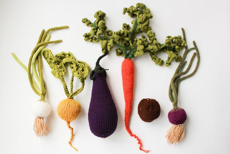 Crocheted Produce Art