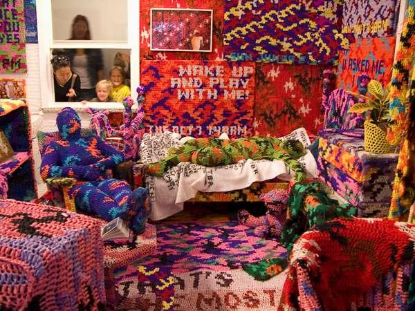 Extreme Crochet Installations