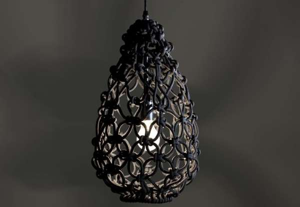 Knotted Egg Lamp