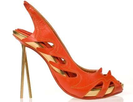 Kobi Levi Fire Dragon Chop-Stick Stilettos