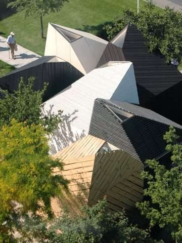 Multi Angled Roof Architecture Koda Estonia Pavilion
