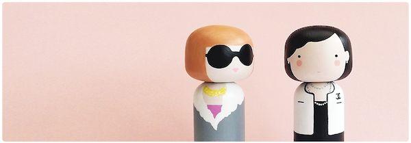 Characterized Kokeshi Doll Series