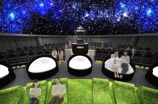 Mock Outdoor Planetariums