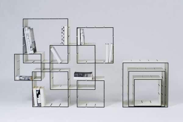 Interlocked Cube Shelves
