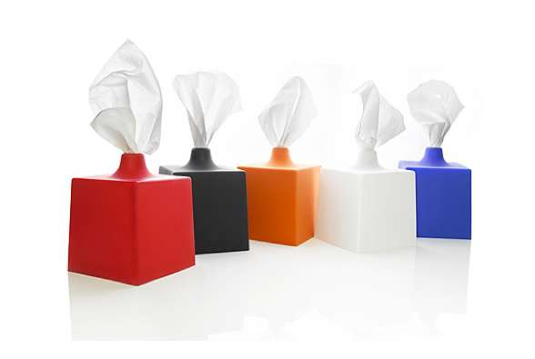 Pinched Kleenex Containers