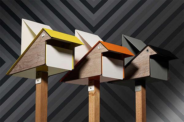 Geometric Birdie Mailboxes