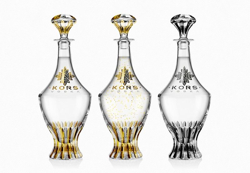 Crystal Vodka Bottles