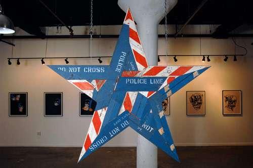 Star-Shaped Barricade Sculptures