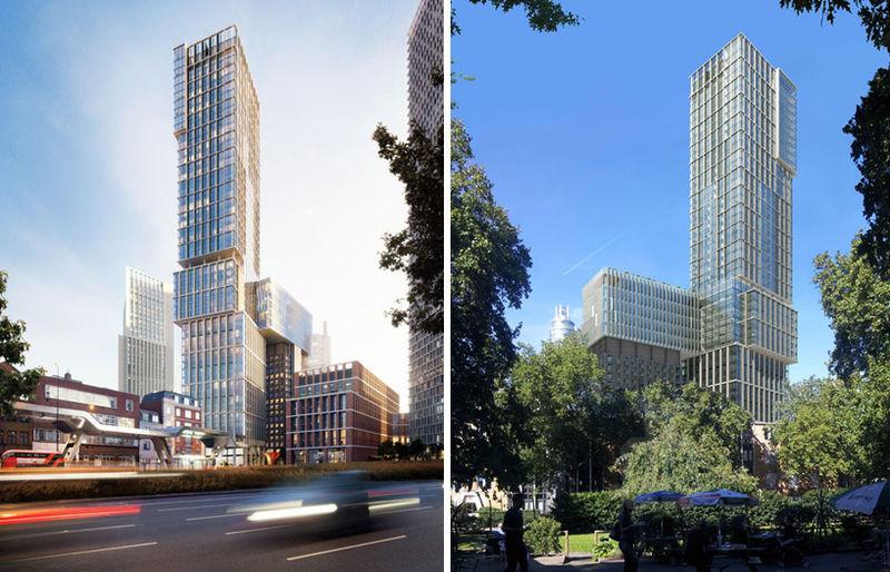 Irregular Facade Towers