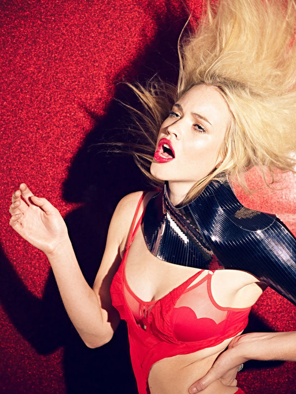 Risque Red-Lipped Editorials