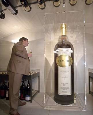 Gigantic Bottle of Wine