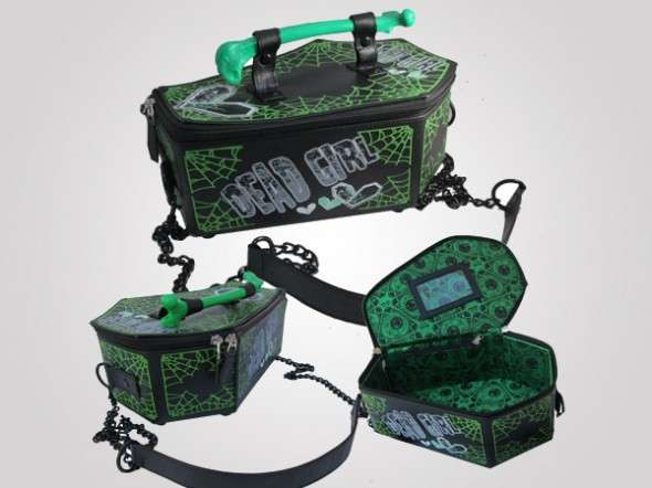 Creepy Coffin Purses