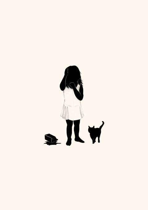 Faceless Children Illustrations