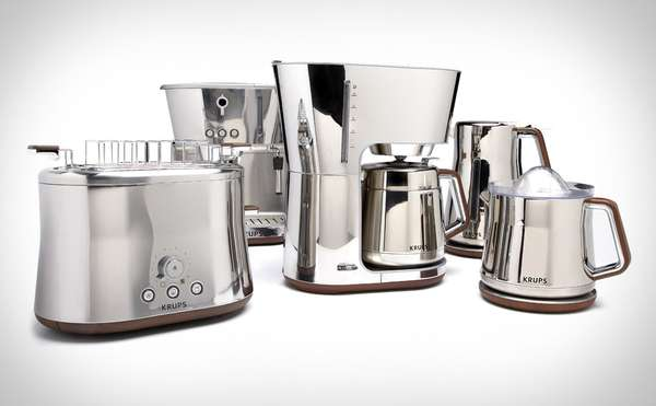 Chrome Kitchen Appliances Krups Silver Art