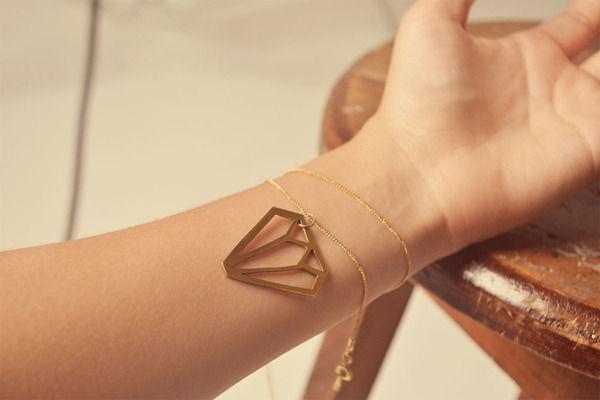 Diamond-Silhouette Metal Jewelry