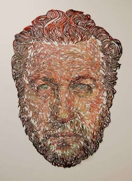 Intricate Cutout Paintings