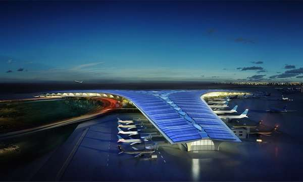 Sci-Fi Sailboat-Style Airports