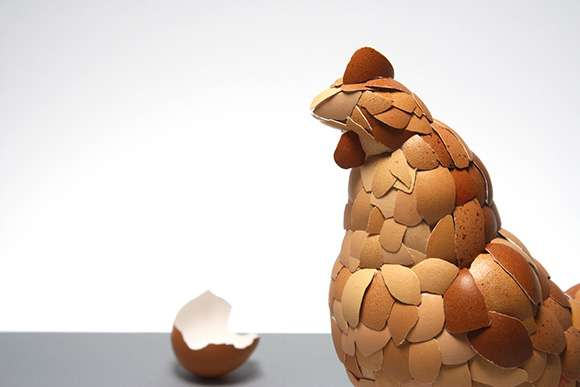 Eggstreme Chicken Sculptures