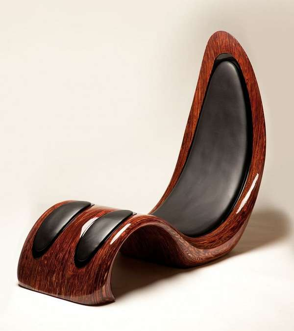 Curvaceous Wooden Chairs