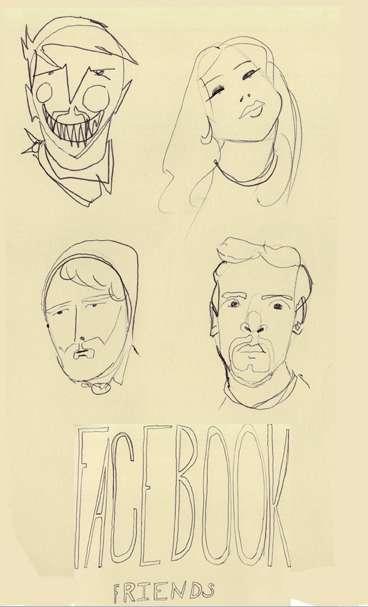 Sketchy Social Media Friends