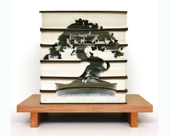 Scalpel-Sculpted Book Stacks